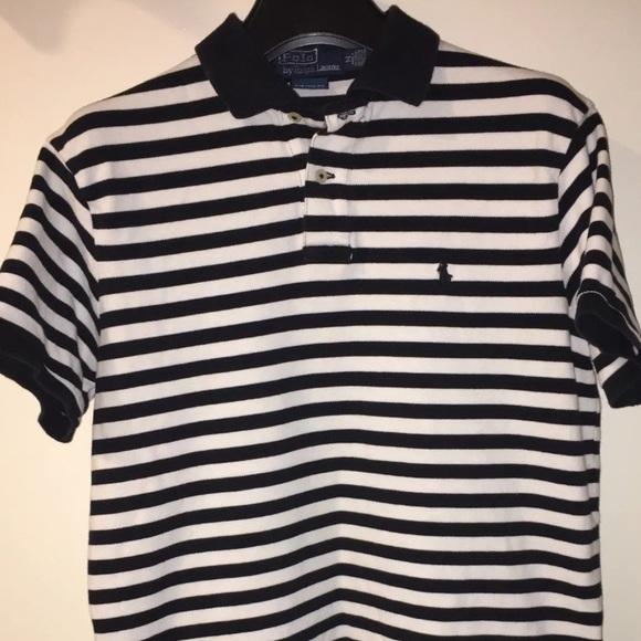 Shirt Ralph Lauren Prison Custom Fit Polo Striped 2He9EYWIDb